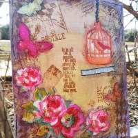 Paper craft project no. 60: Follow your heart mixed media canvas