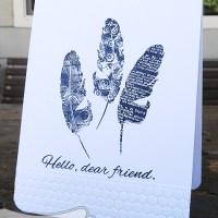 Paper craft project no. 78: Hello, dear friend