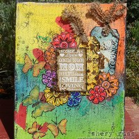 Paper craft project no. 165: Mom's unconditional love mixed media canvas [with video tutorial]
