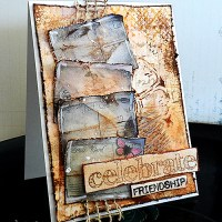 Paper craft project no. 202: Celebrate friendship mixed media card [with video tutorial]
