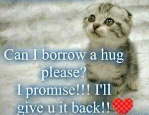 Hug please