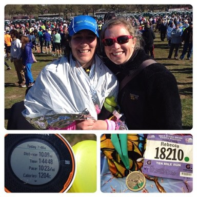 Spolier alert! I got a 3 min PR and met Christine at the Cherry Blossom 10 miler!