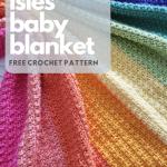 Crochet Rainbow Baby Blanket Free Pattern Onelittlehook