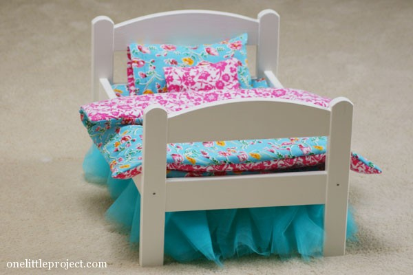 How To Make A Reversible Blanket For An Ikea Doll Bed Onelittleproject