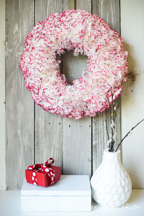 20 Beautiful Coffee Filter Crafts - Watercolored Coffee Filter Wreath