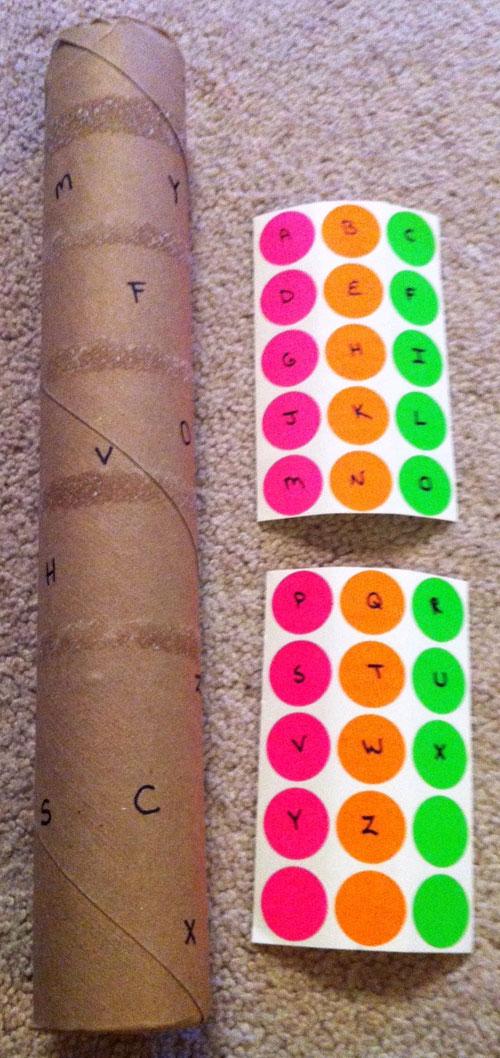 40+ DIY Travel Activities - Sticker Matching Pole