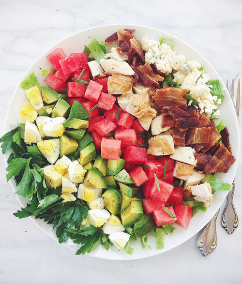 50+ Best Recipes for Fresh Watermelon - Watermelon Cobb Salad