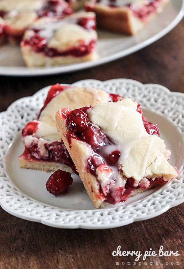 50+ Best Squares and Bars Recipes - Cherry Pie Bars
