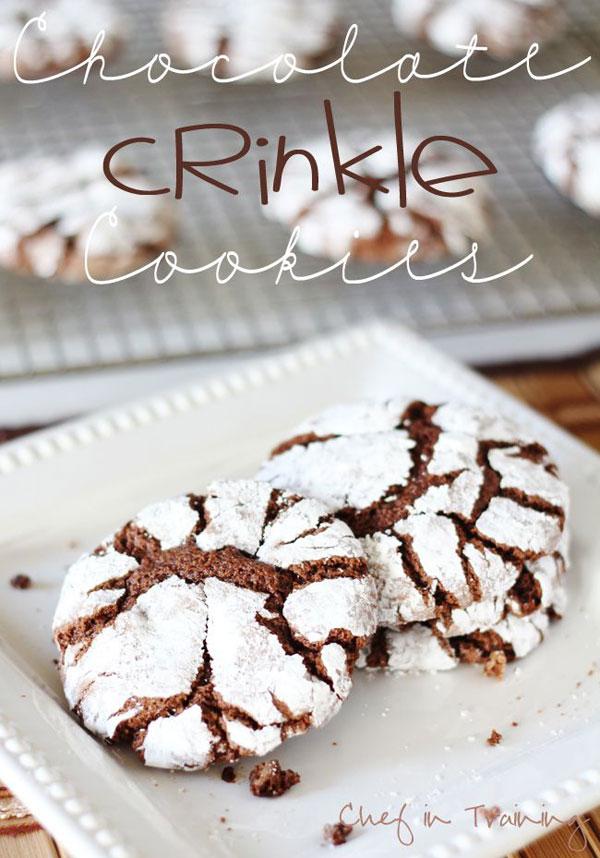 50+ Best Cookie Recipes - Chocolate Crinkle Cookies