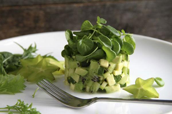 50+ Best Kiwi Recipes - Kiwi, Avocado and Watercress Salad