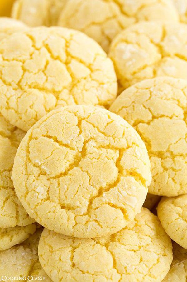50+ Best Cookie Recipes - Lemon Crinkle Cookies