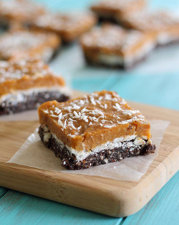 50+ Best Squares and Bars Recipes - No bake Pumpkin Bars