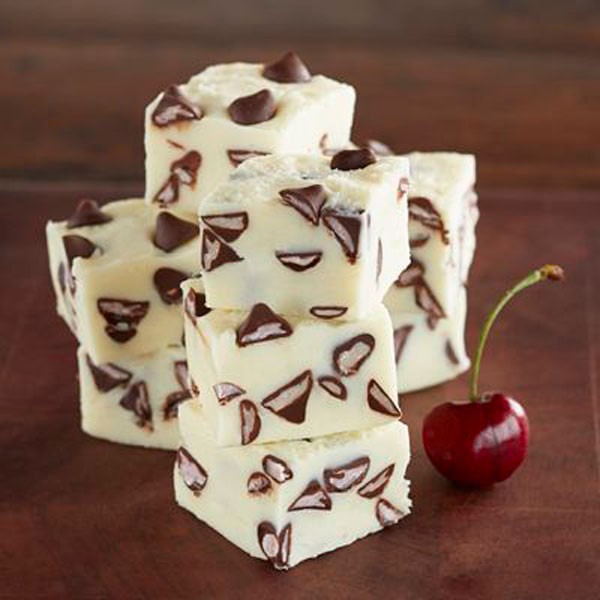 50+ Best Squares and Bars Recipes - Premier White Fudge with Cherry Flavored Filled DelightFulls