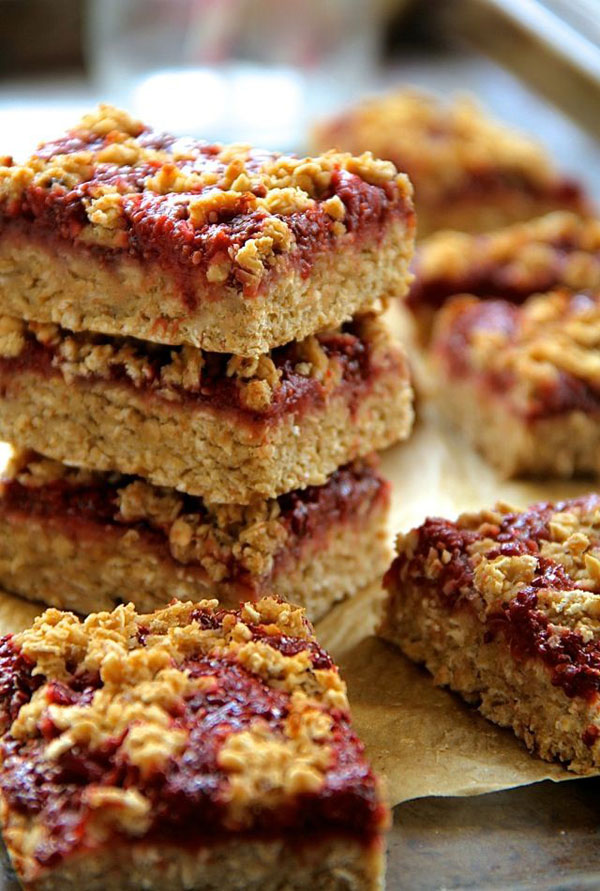 50+ Best Squares and Bars Recipes - Strawberry Banana Oat Bars