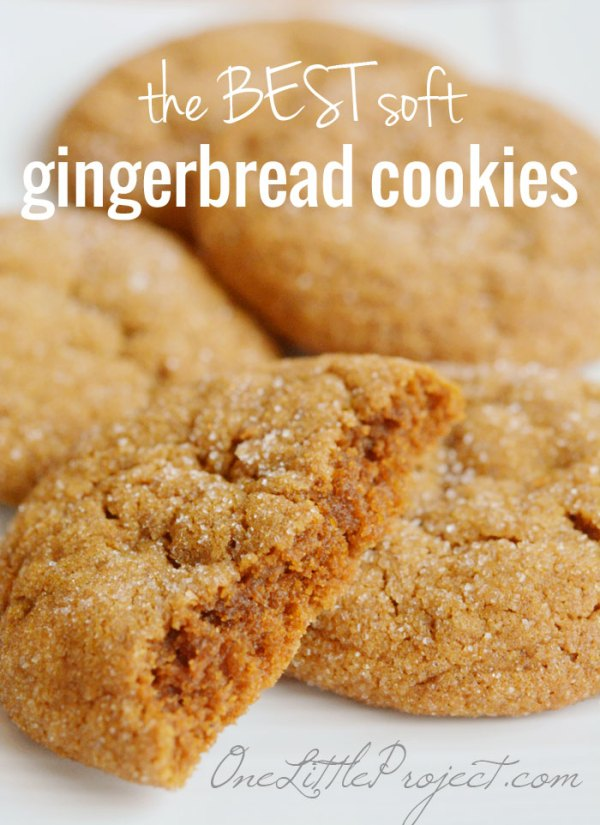 50+ Best Cookie Recipes - Soft Gingerbread Cookies