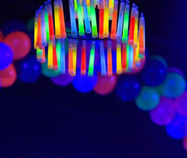 Glow Stick Ideas Glow Sticks Chandelier