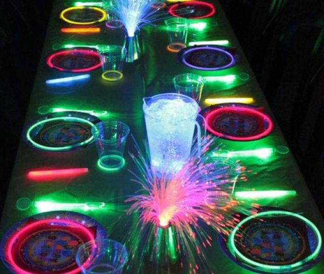 Glow Stick Ideas Neon Glow In The Dark Party