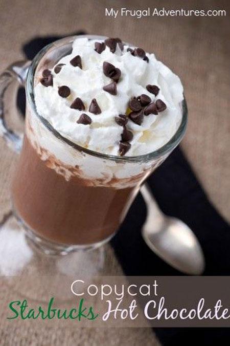 50+ Homemade Starbucks Recipes - Starbucks Hot Chocolate
