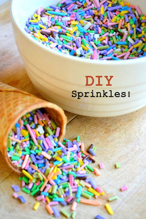 30+ Foods You Can Make Yourself - Homemade Sprinkles