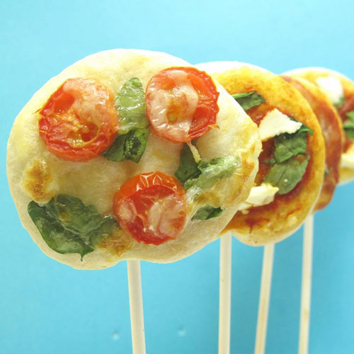 50+ Food on a Stick Lunch Ideas - Pizza Pops and a Calzone