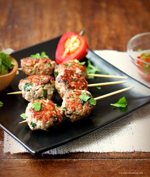 50+ Food on a Stick Lunch Ideas - Turkey Meatballs