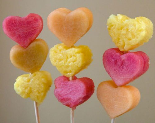 50+ Food on a Stick Lunch Ideas - Valentine's Day Fruit Skewers