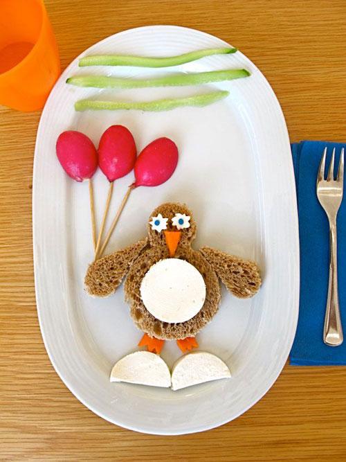 50+ Kids Food Art Lunches - Penguin Sandwich