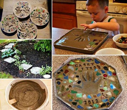 20 Best DIY Garden Crafts - DIY Stepping Stone