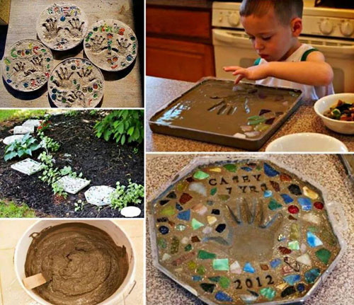 20 Best DIY Garden Crafts - DIY Stepping Stone