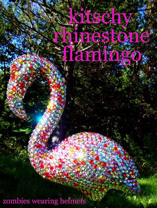 37 Awesome DIY Summer Projects - Kitschy Rhinestone Flamingo
