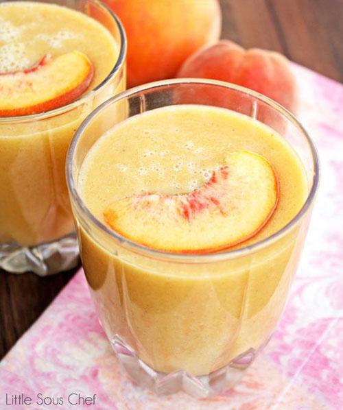 50+ Best Peach Recipes - Banana Peach Smoothie
