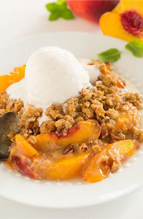 50+ Best Peach Recipes - Peach Crisp