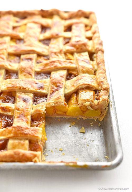 50+ Best Peach Recipes - Peach Slab Pie