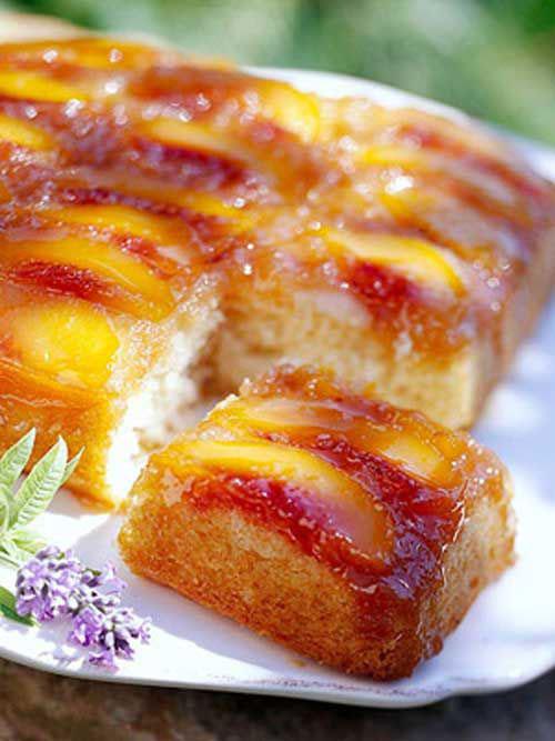 50+ Best Peach Recipes - Peach Upside-Down Cake
