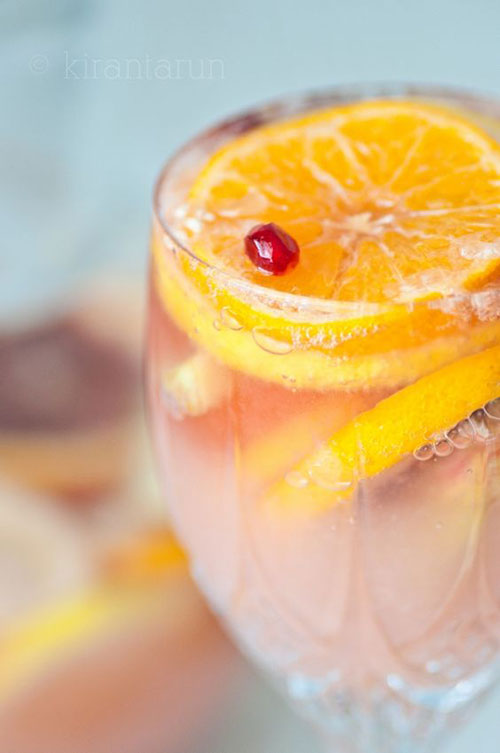 50+ Best Recipes for Fresh Clementines - Clementine Champagne Sangria