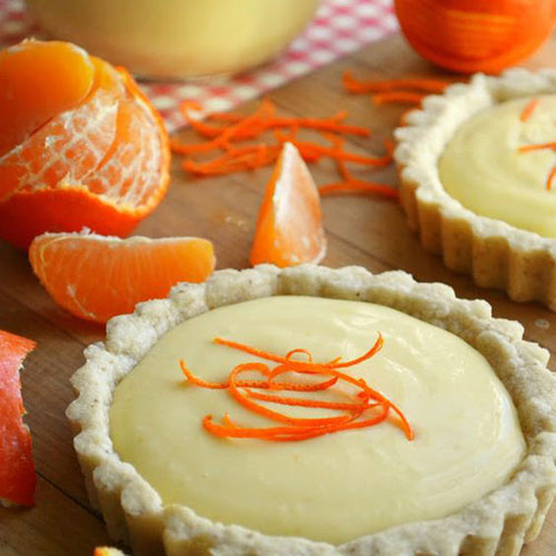 50+ Best Recipes for Fresh Clementines - Clementine Cream Tarts