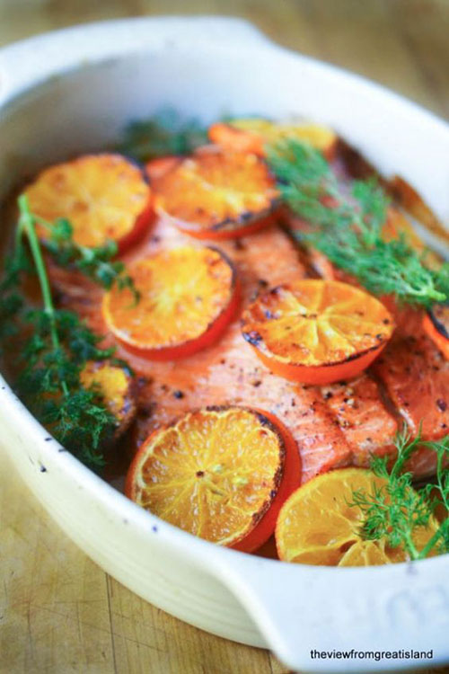 50+ Best Recipes for Fresh Clementines - Clementine Glazed Salmon