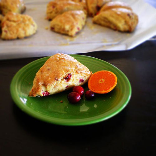 50+ Best Recipes for Fresh Clementines - Cranberry Clementine Scones