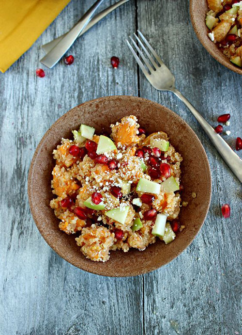 50+ Best Recipes for Fresh Clementines - Winter Clementine Quinoa Salad with Sweet Potato