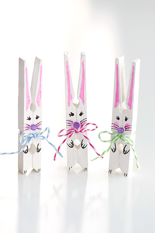 How To Make Clothespin Bunnies Clothespin Easter Bunny Craft