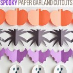 Halloween Paper Garland Cutouts Bats Spiders Pumpkins Ghosts And Black Cats One Little Project