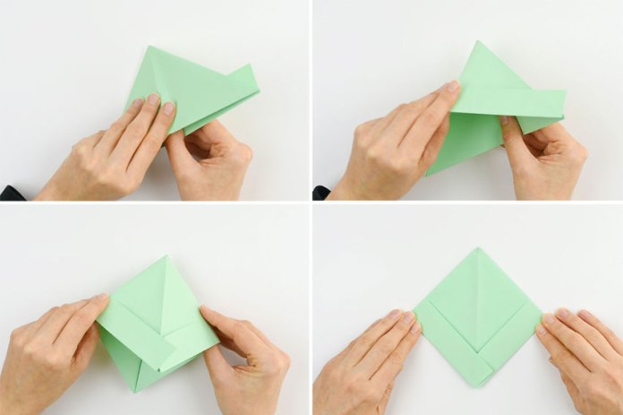 How to make a paper boat - step 7