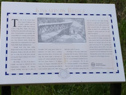 Interpretive sign at the bridge