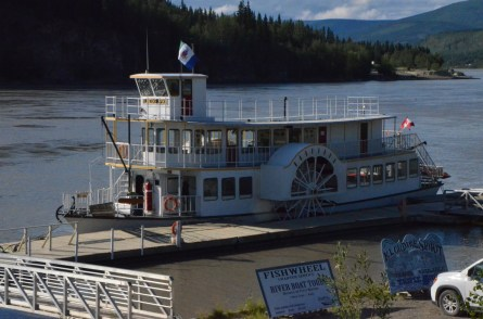 Fishwheel river boat.