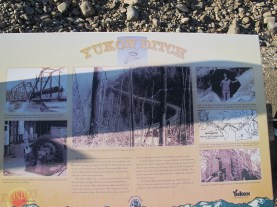 Every aspect of this mining was driven by water, so bringing more water in was a huge enterprise as well. This sign talks about the Yukon Ditch, one such project.
