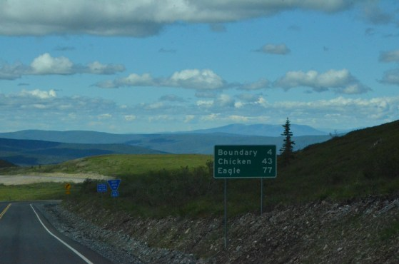 Just after the Alaska border station, rest area ahead.