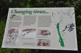 A series of signs at the campground help put the experience in perspective.