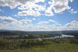 Pelly River overlook, I just came over that bridge.