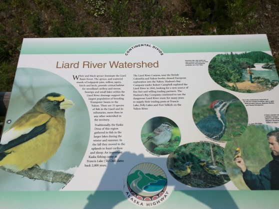 Leaving the Laird River watershed