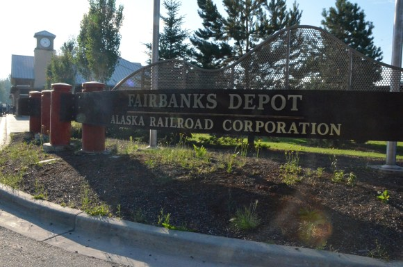 Fairbanks depot parking lot. I had scoped things out the day before. Seemed fine for leaving the car for the day.